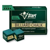 Мел Startbilliards 4 звезды зеленый (12 шт. качества 5А)