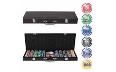 Набор для покера Leather Brown на 500 фишек