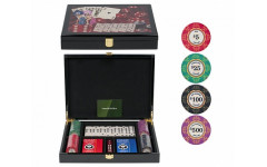 Набор для игры в домино и покер Lux на 100 фишек
