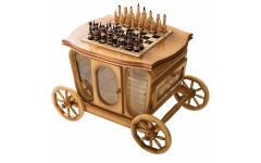 Стол шахматный с баром в виде кареты