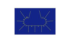 Сукно для покера Iwan Simonis 7410 Professional Texas Poker Hold`em Dark Blue