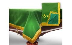 Чехол для б/стола 8-3 (зеленый с желтой бахромой, без логотипа)