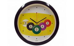 Часы настенные D29 см (черные)