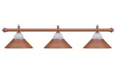 Лампа на три плафона «Jazz» (бронзовая штанга, бронзовый плафон D38см)