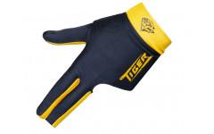 Перчатка бильярдная «Tiger» (черно-желтая) L