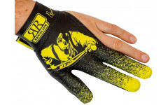 Перчатка для игры в бильярд на левую руку черно-желтая, Renzline — Renzo Longoni Player