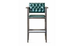 Кресло бильярдное (мягкое сиденье + мягкая спинка, цвет зеленый)