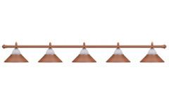 Лампа на пять плафонов «Jazz» (бронзовая штанга, бронзовый плафон D38см)