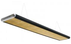 Лампа плоская люминесцентная «Longoni Nautilus» (черная, серебристый торец, золотистый отражатель, 320x31x6см)